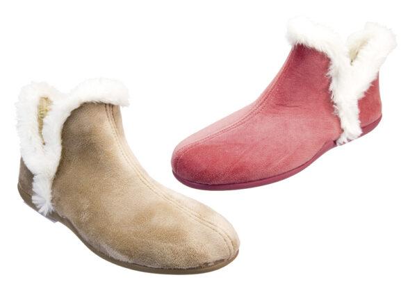 PANTOFOLA ALTA IN TESSUTO MORBIDO 1651859 Pantofole Donna